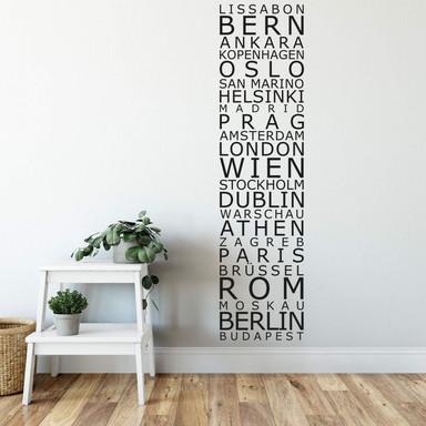 Wandtattoo Banner EU Städte