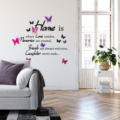 Wandtattoo Home is where love resides