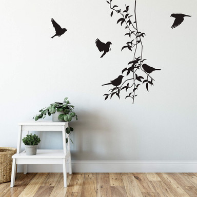 Wandtattoo Liane mit Vögeln