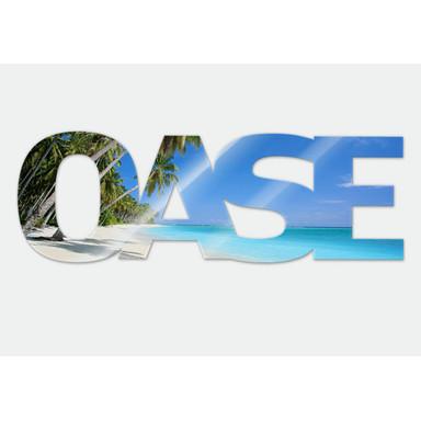 Dekobuchstaben Oase + 8 Klebepads