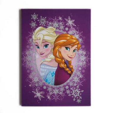 Leinwandbild Die Eiskönigin, Frosted Elsa & Anna (Glitzer) - Bild 1