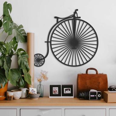 MDF - Holzdeko Altes Fahrrad - Hochrad