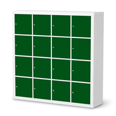 Möbelfolie IKEA Expedit Regal 16 Türen - Grün Dark