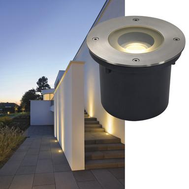 Outdoor LED Bodeneinbaustrahler Wetsy, 3000 K, warmweiss, rund, IP67