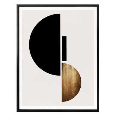 Poster Kubistika - Goldenes Gepräge