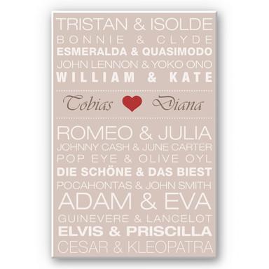 Wandbild & Wunschtext - Famous Couples 02