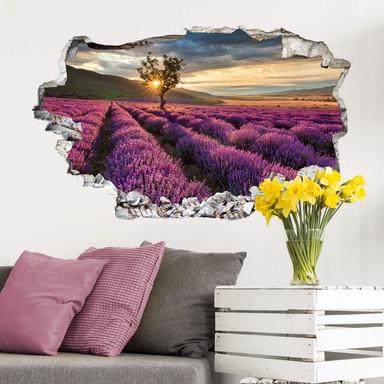 3D Wandtattoo Lavendelblüte in der Provence