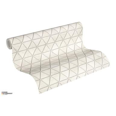 A.S. Création Vliestapete Authentic Walls 2 Tapete geometrisch metallic, weiss, grau