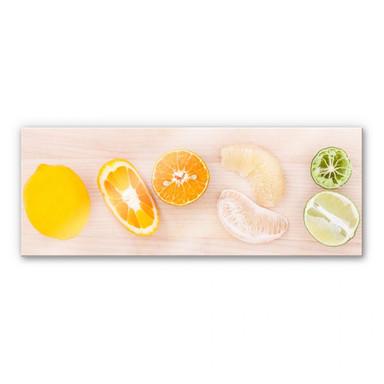 Acrylglasbild Limonaden-Rezept - Panorama