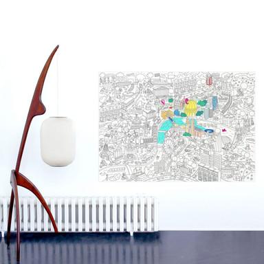 Ausmalposter - London 100x70cm