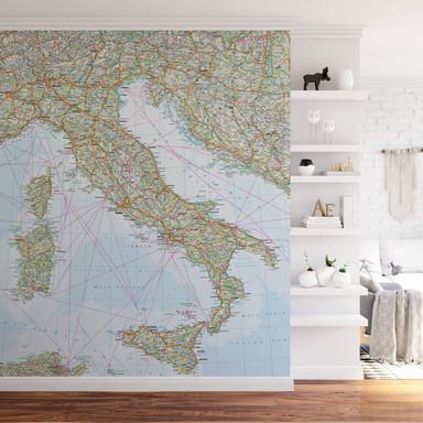 Fototapete Falk - Italien Landkarte