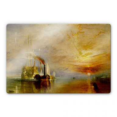 Glasbild Turner - Die Temeraire an ihrem letzten Ankerplatz