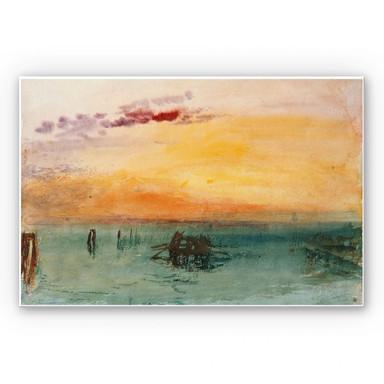 Hartschaumbild Turner - Venedig von Fusina aus gesehen