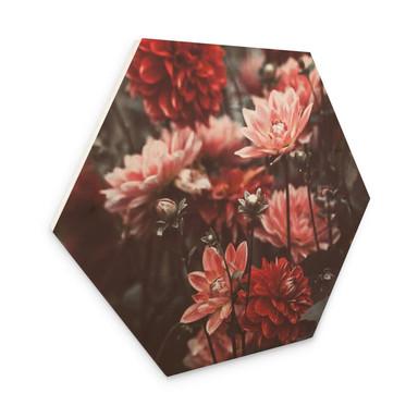 Hexagon - Holz Annie - Sommerblüten