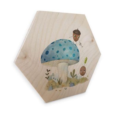 Hexagon - Holz Birke-Furnier Loske - Naturkinder