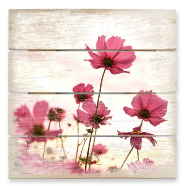 Holzbild Pinke Kosmeen