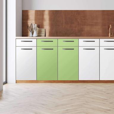 Küchenfolie - Unterschrank 80cm Breite - Hellgrün Light