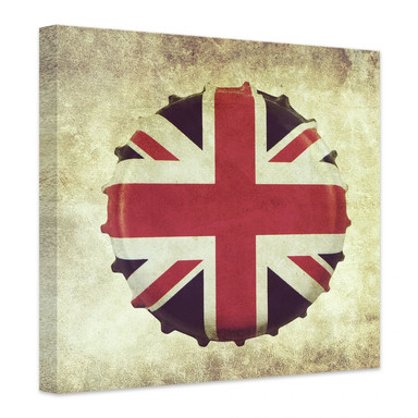 Leinwandbild Britischer Kronkorken