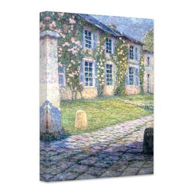 Leinwandbild Henri Le Sidaner - La Maison Rose à Versailles