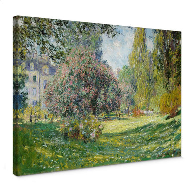 Leinwandbild Monet - Der Park Monceau