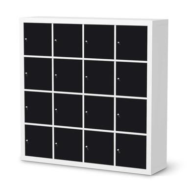 Möbelfolie IKEA Expedit Regal 16 Türen - Schwarz