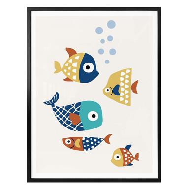 Poster Kubistika - Bunte Fische