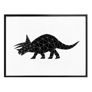 Poster Nouveauprints - Geometric Dinosaur Triceratops