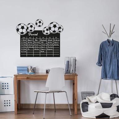 Tafelfolie Stundenplan Fussball