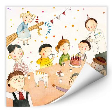 Wallprint Loske - Geburtstagsfeier