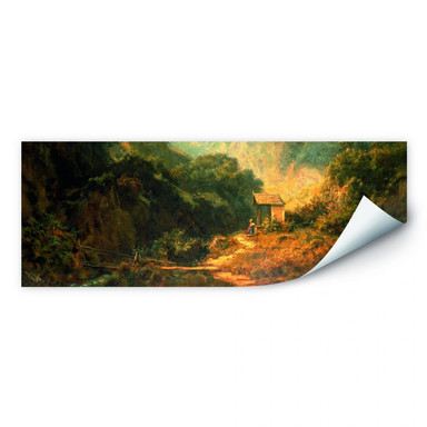 Wallprint Spitzweg - Felsental mit Kapelle - Panorama