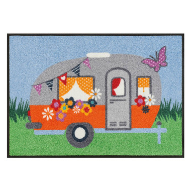 Wash&Dry Fussmatte Happy Camping 50x75cm