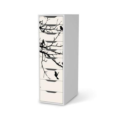 Folie IKEA Alex 9 Schubladen - Tree and Birds 1- Bild 1
