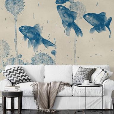 Fototapete Blaue Fische