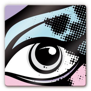 Glasbild Eye Background