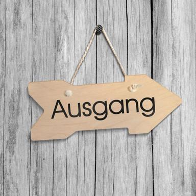 Holz-Wegweiser - Augang inkl. Sisalseil