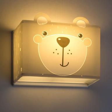Kinderzimmer Wandleuchte Little Teddy in Grau E27
