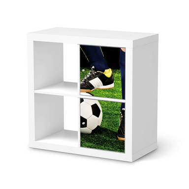 Klebefolie IKEA Expedit Regal 2 Türen (hoch) - Fussballstar