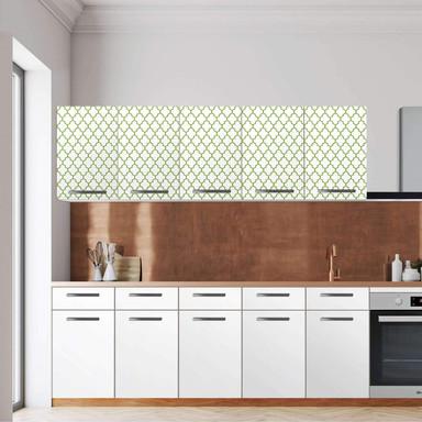 Klebefolie - Wandschrank 200cm Breite - Retro Pattern - Grün