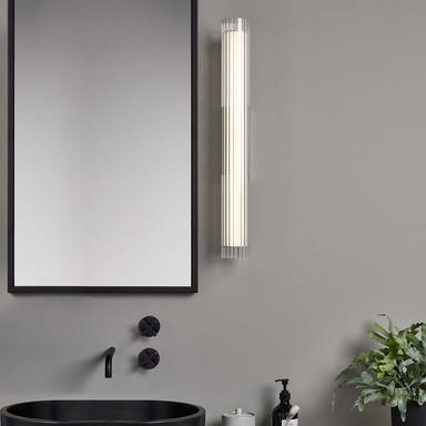 LED Wandleuchte io in Gold-matt 8.2W, 825lm, IP44 665mm