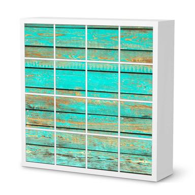 Möbelfolie IKEA Expedit Regal 16 Türen - Wooden Aqua