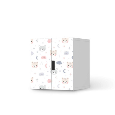 Möbelfolie IKEA Stuva / Malad Schrank - 2 kleine Türen - Sweet Dreams