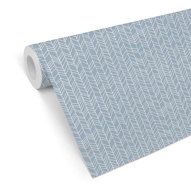 Mustertapete - abstrakte Linien - blau