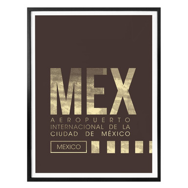 Poster MEX Flughafen Mexico City
