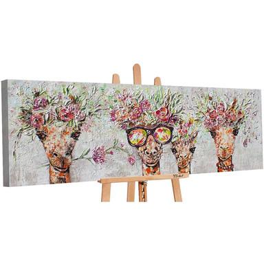 Acryl Gemälde handgemalt Giraffen 150x50cm - Bild 1