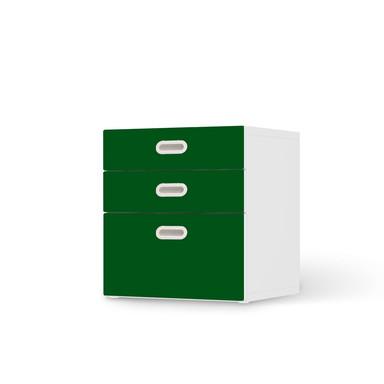 Folie IKEA Stuva / Fritids Kommode - 3 Schubladen - Grün Dark- Bild 1