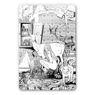 Glasbild Drawstore - In the Livingroom