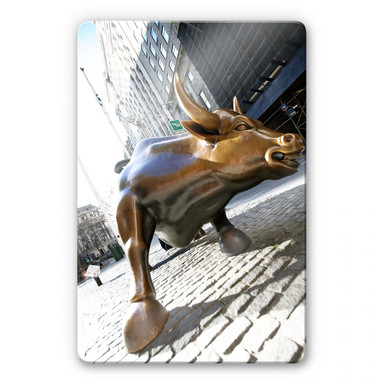 Glasbild The Charging Bull