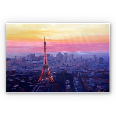 Hartschaumbild Bleichner - Pariser Eiffelturm in der Abenddämmerung