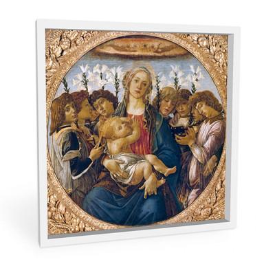 Hartschaumbild Botticelli - Maria mit dem Kind und singenden Engeln
