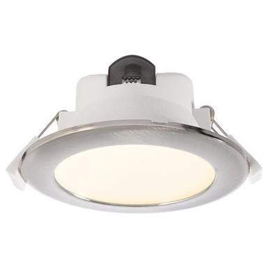 LED Deckeneinbauleuchte Acrux in Silber 9W 760lm